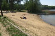Sand beach in Kuźnica Zbąska